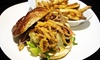 OOB Road Trip American Ale House - Terryville: GourmetBurger Meal for Two or Four with Take-Home Growlers at Road Trip American Ale House (Up to 51% Off)