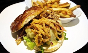 Road Trip American Ale House: Gourmet Burger Meal for Two or Four with Take-Home Growlers at Road Trip American Ale House (Up to 51% Off)
