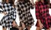 Flannel Check Smock Mini Dress