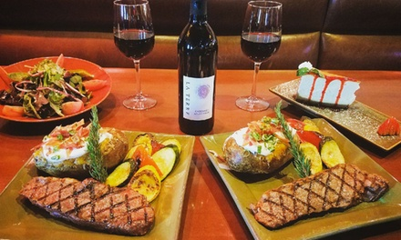 $59 for Steak Dinner for Two at Michael T's Steaks, Ribs, & Burgers, Takeout and Dine-In ($132.99 Value)