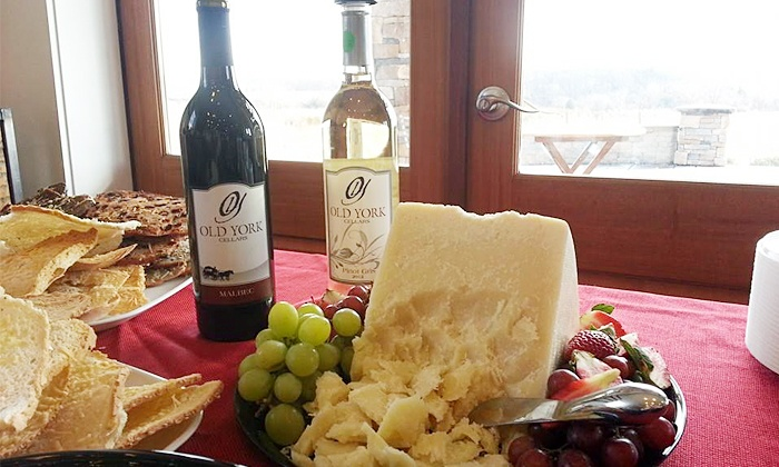 Old York Cellars - East Amwell: Wine and Cheese Tasting with Tour and Souvenir Glasses for Two or Four at Old York Cellars (Up to 51% Off)