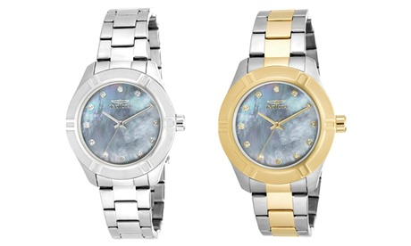 Invicta Pro Diver Women's Mother of Pearl Dial Stainless Steel Watch ab0fffa3-f990-4b41-88f9-ad5dfe73423c