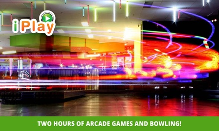 2Hr of Arcade Games & Bowling for One $15, Two $30 or Six People $90 at iPlay Australia Belconnen Up to $150