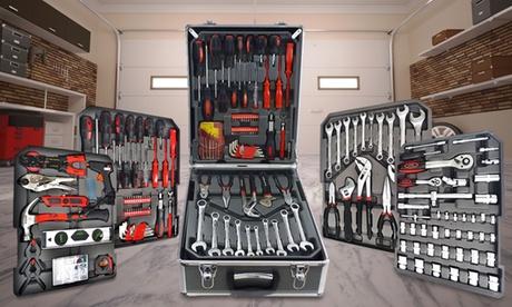 Maleta de herramientas con 186 piezas de cromo vanadio