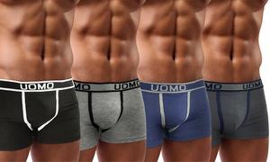 4, 8 ou 12 boxers Uomo coton
