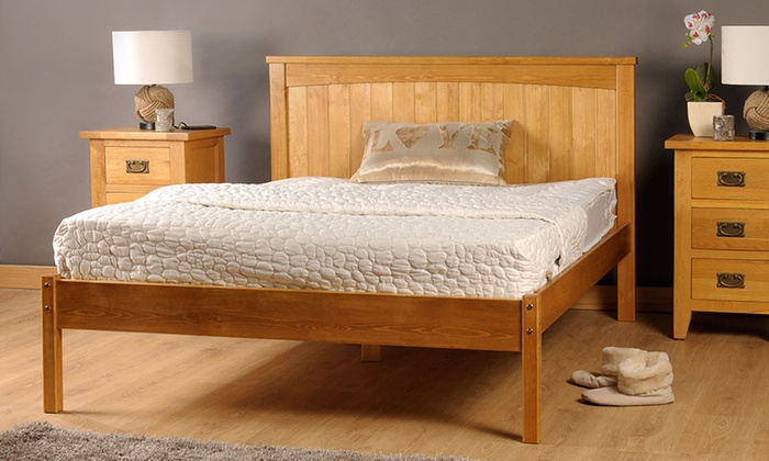 Amprezzo Handmade Wooden Bed Frame with Optional Mattress from £95