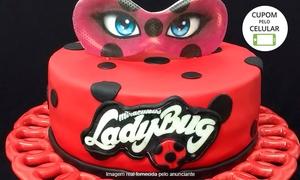 Michelle Lombardi Cakes & Bakes: Michelle Lombardi Cakes & Bakes – Cajuru: 2, 4 ou 6 kg de bolo com pasta americana ou kit festa (opção com doces)