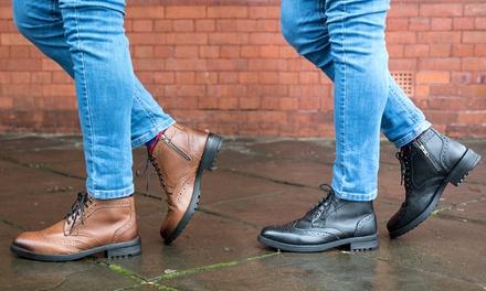 775f0c8b427 Oaktrak Men's Brogue Boots for £19.99 | United Kingdom - Discounts 4 ...