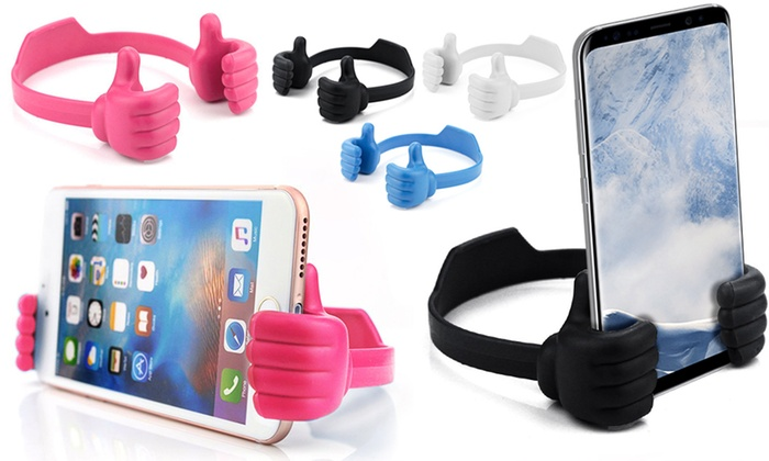 One or Two Thumbs-Up Mobile Phone or Tablet Holders from £3.95