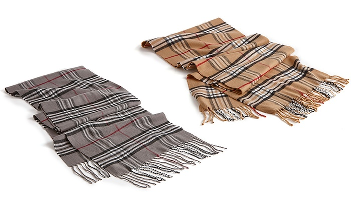 A and G Clothing - In-Store Pickup: Grey or Tan Plaid Scarves with In-Store Pickup at A&G Clothing (Up to 40% Off)