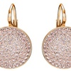 Rose Gold-Plated Circular Leverback Earrings by Jewelry Elements