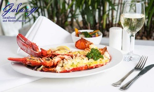 Galaxy Seafood & Mediterranean Restaurant: 3-Course Lobster Dining for One ($29.90) or Four People ($116) at Galaxy Seafood Restaurant (Up to $342.80 Value)