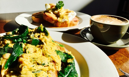 AllDay Breakfast with Coffee for One $8 or Two People $16 at Emporium 7 Cafe Up to $33.60 Value