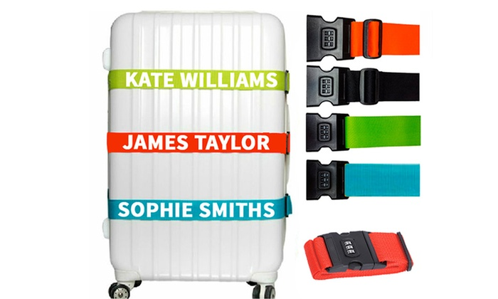 Personalised Gifts Market: Personalised Combination Luggage Strap: One ($12) or Two ($23) (Don't Pay up to $67.28)
