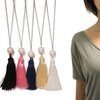 Pearl and Tassel Y-Necklace by Eternally Haute