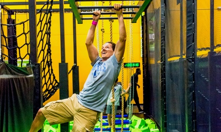 Jump Passes, Neon Jump Night, or Silver Party Package at Rockin' Jump (Up to 36% Off). Four Options Available.