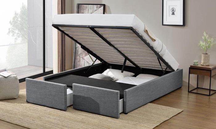 jusqu 39 78 lit coffre avec matelas en option groupon. Black Bedroom Furniture Sets. Home Design Ideas