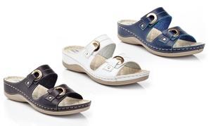Henry Ferrera Women's Double-Strap Comfort Wedge Sandals