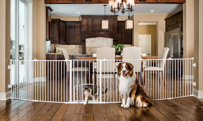 Carlson 2 In 1 Super Pet Gate And Pet Yard Groupon