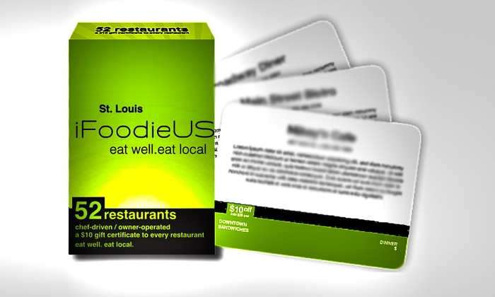 iFoodieUS: $20 for Deck of 52 Gift Cards to Local Restaurants ($43 value)