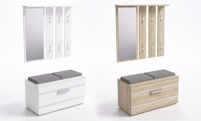Mueble de entrada con banco | Groupon Goods