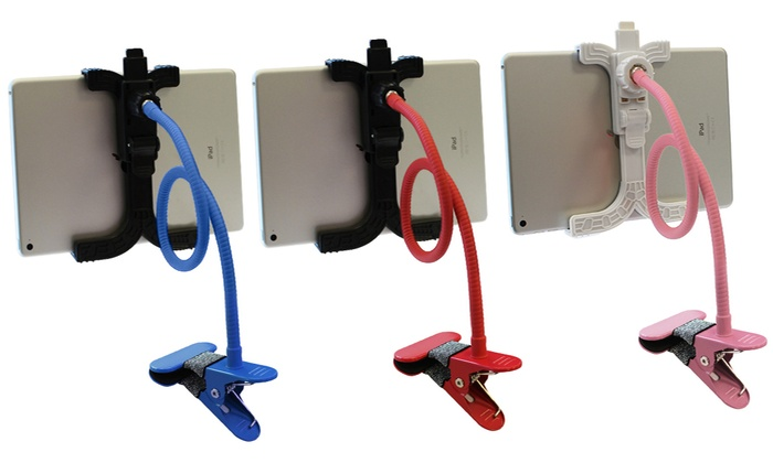 One or Two 360-Degree Lazy S-Bend Tablet Holders in Choice of Colour