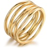 Seven Layer Stack Ring in 18K Gold Plating by Sevil