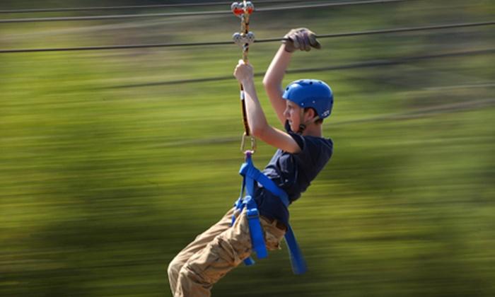 Adventure Ziplines of Branson - Branson: Zipline Canopy Tour with Option of Motorized Sky Surfer Ride at Adventure Ziplines of Branson (Up to 55% Off)