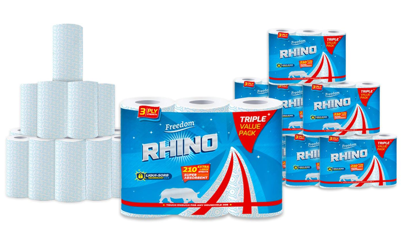 15 or 30 Freedom Rhino Kitchen Towel Rolls