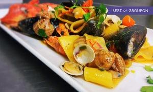 iDon: Menu pesce con tris antipasti, primo o secondo, dolce e bottiglia di vino da iDon (sconto fino a 45%). Valido in 2 sedi