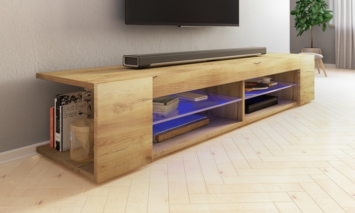 Selsey TV Stand with LED Lights and Open Shelves