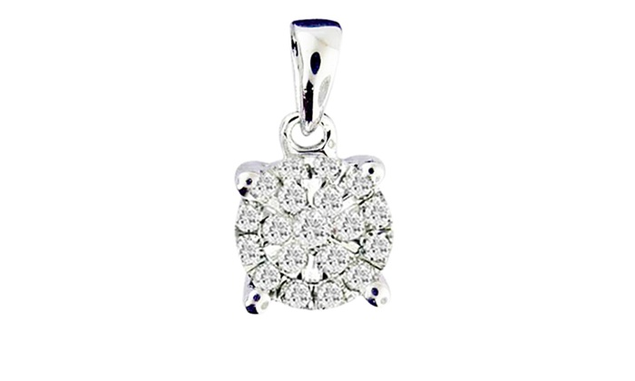 Miracle Plate Diamond & Sterling Silver Pendant: Miracle Plate Diamond & Sterling Silver Pendant