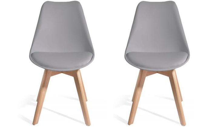 Lot de 2 ou 4 chaises d'été Scandinaves BREKKA, coloris au choix