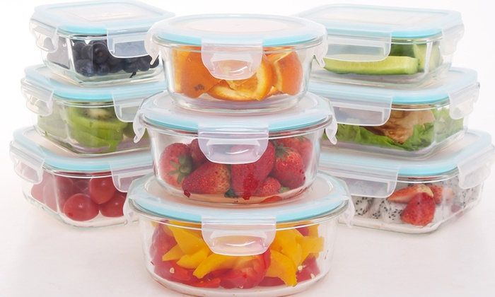 Ordinaire Genicook Oven Safe Glass Food Storage Container Sets (18  Or ...