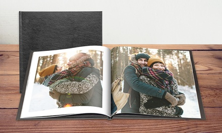 One 20cm x 20cm Leather Photobook from £3.99 or Two from £6.99