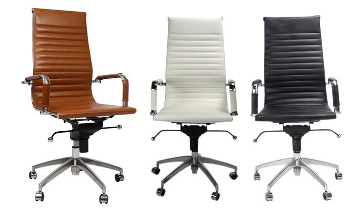 Bureau Stoel Leer.Tot 36 Op Bureaustoel Boss Echt Leder Groupon Producten