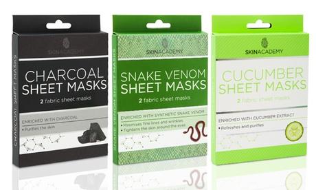 1, 2 o 3 mascarillas faciales de papel Skin Academy