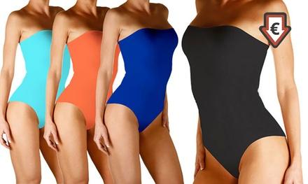 a817a3c8e8 1 ou 2 maillots de bain bustiers sculptants et amincissants zéro défaut,  coloris au choix ...