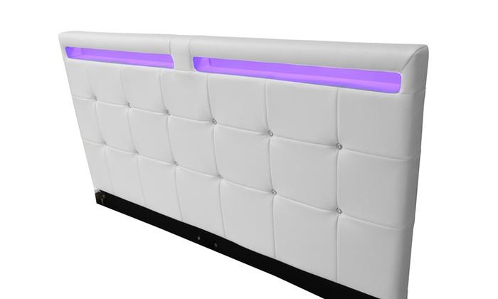 lit luxe led et matelas en option groupon. Black Bedroom Furniture Sets. Home Design Ideas
