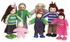 Soka Seven-Piece Wooden Big Family Doll Set With Free Delivery