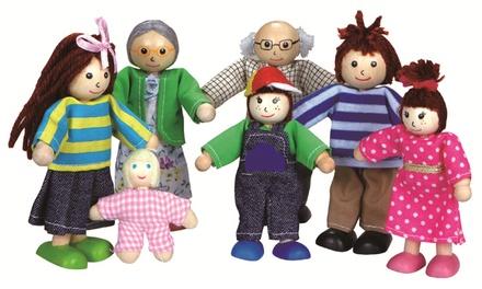 Lelin Wooden Big Family Dolls