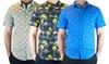Men's Short-Sleeve Printed Woven Shirts: Men's Short-Sleeve Printed Woven Shirts