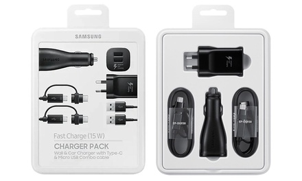 Samsung Fast Charge Charger Packs: One $24.95 or Two $44.95 Don't Pay up to $179.90