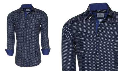 ac9c52f8 Shop Groupon Suslo Couture Men's Long-Sleeve Slim-Fit Fashion Button-Down  Shirts