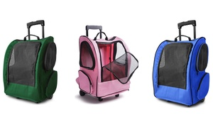 Rolling Backpack Pet Carrier for Dogs or Cats