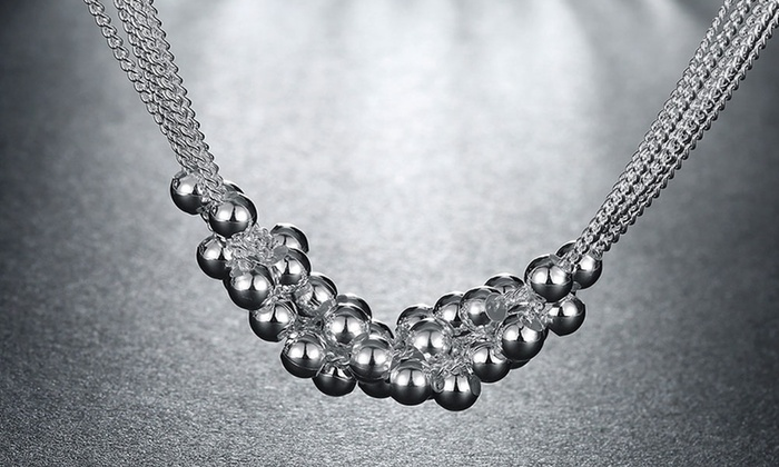 Bubble Necklace In Sterling Silver Groupon