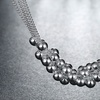 Sterling Silver Plated Bubble Necklace by Jewelry Elements