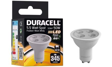 Hasta 6 bombillas LED Duracell GU10 5.5W