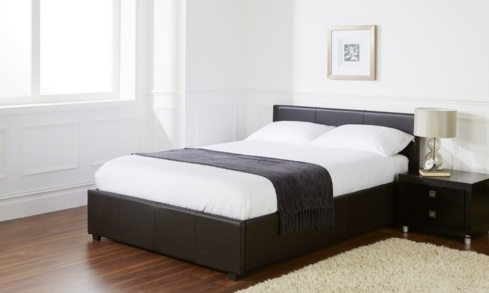 Ottoman storage bed groupon for Beds groupon