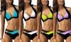 Groupon Goods Global GmbH: Bikini Léana bicolore, plusieurs tailles et coloris au choix à 18,90 €
